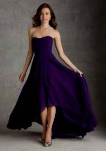 purple bridesmaid dresses strapless