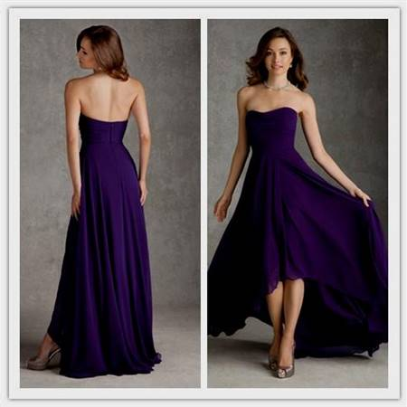 purple bridesmaid dresses strapless