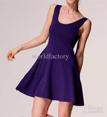 purple casual dresses