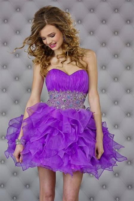 purple dresses for homecoming