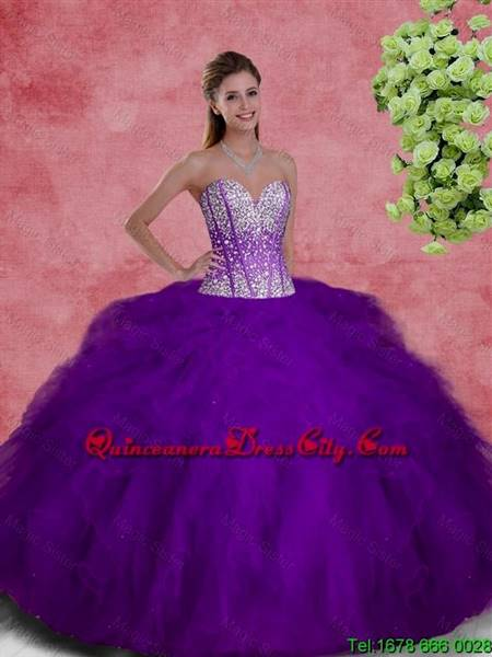 purple dresses for quinceanera