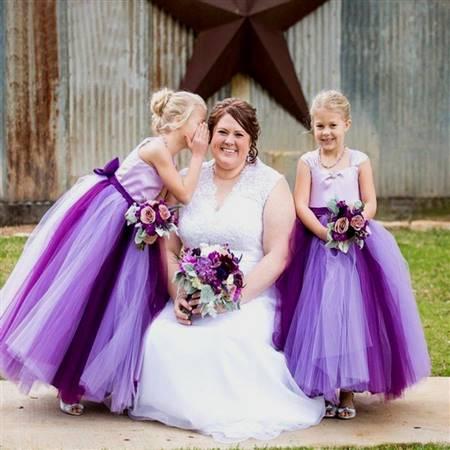 purple flower girl dresses for kids