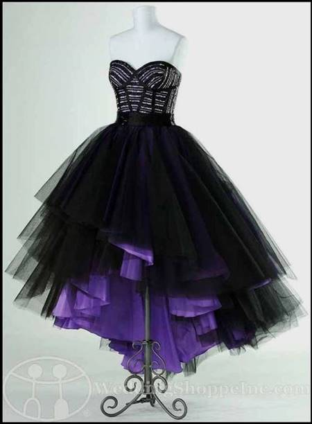 purple gothic prom dresses