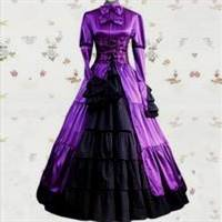 purple medieval princess dresses