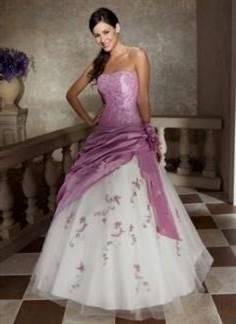 purple mermaid wedding dresses