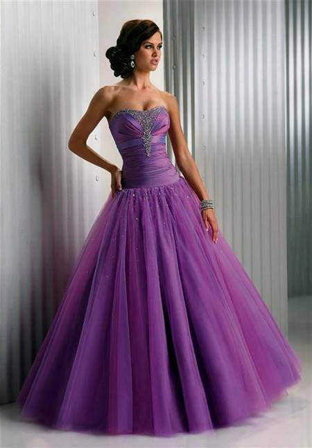 purple prom dress