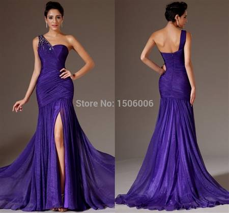 purple prom gowns with sleeves