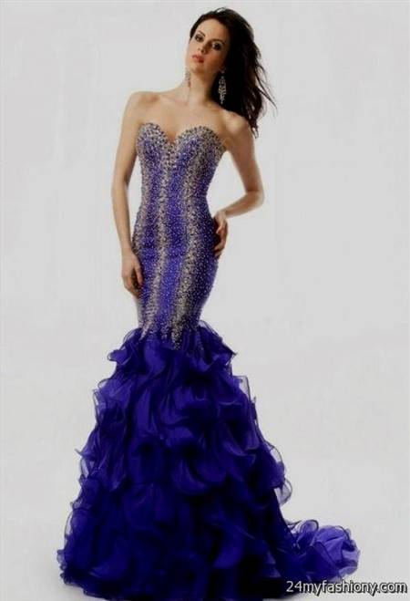 purple sequin mermaid prom dress