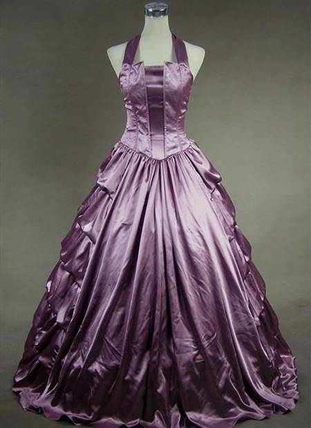 purple victorian ball gown