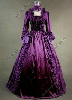 purple victorian ball gowns