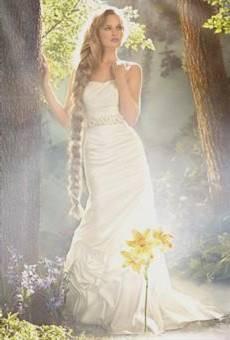 rapunzel inspired wedding dress