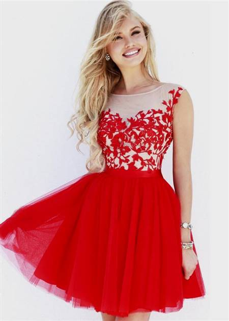 red and black cocktail dress for prom night