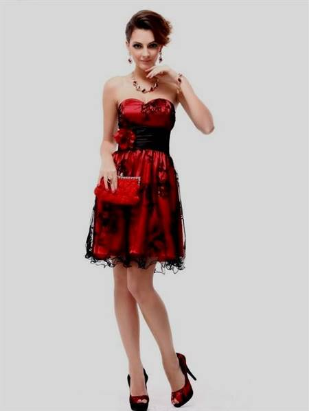 red and black dresses for teenagers