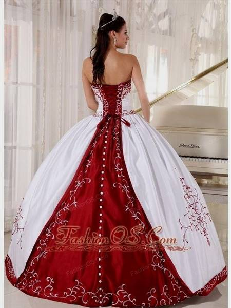 red and black gowns for debutante