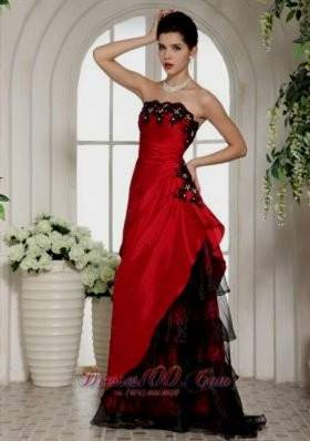 red and black prom dresses with straps