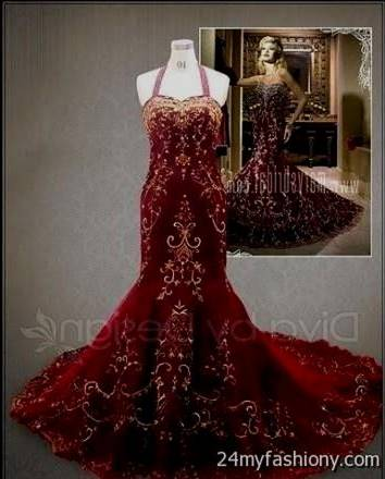 red and gold wedding dresses