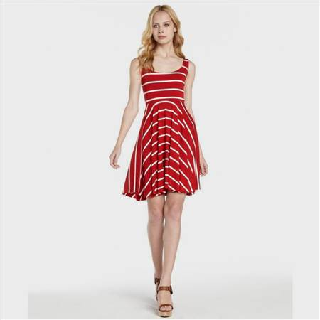 red and white casual dresses