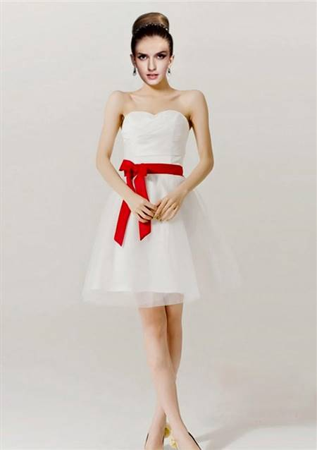 red and white cocktail dress