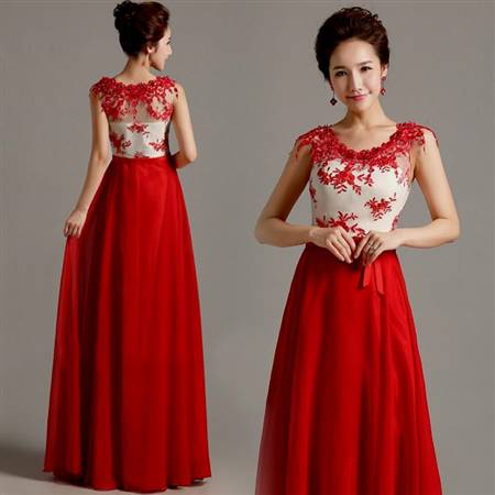 red and white cocktail dress for wedding