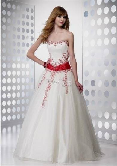red and white dresses for prom