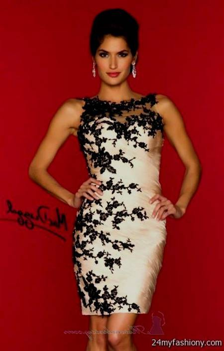 red and white lace dress