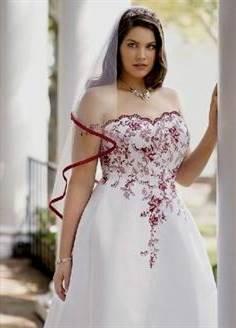 e75b81fa321 red and white wedding dresses david s bridal