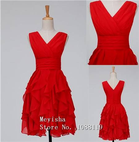 red cocktail dress for teenage girls