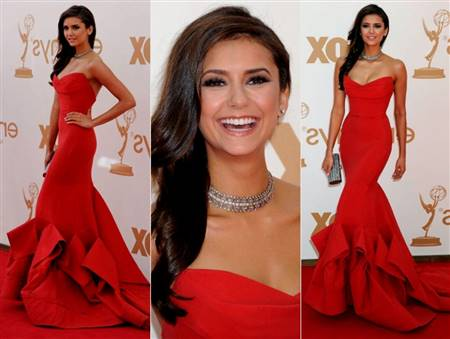 red dress prom makeup