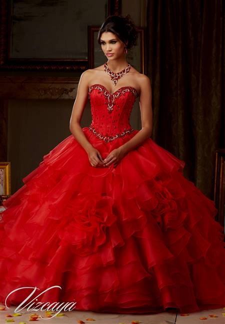 red dresses for quinceanera