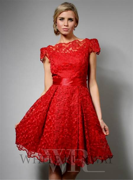 red dresses with lace