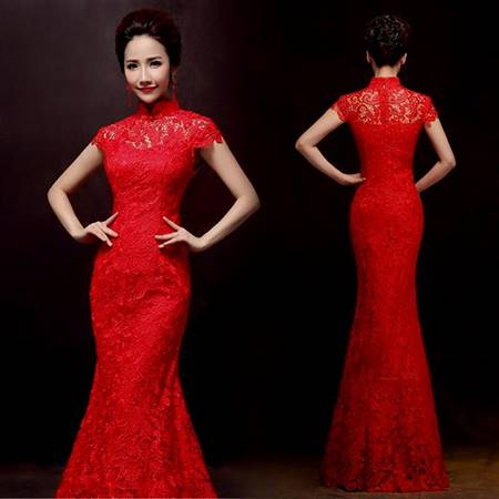 red lace bridesmaid dresses with sleeves