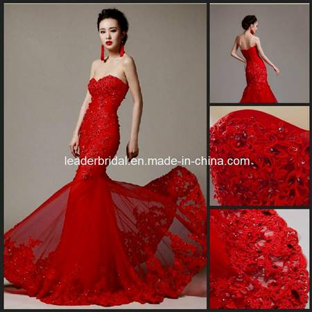 red mermaid dress