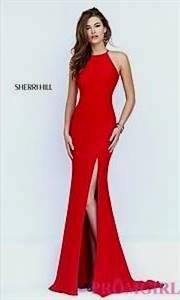 red sherri hill prom dresses open back
