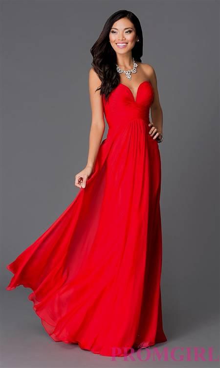 red strapless prom dresses