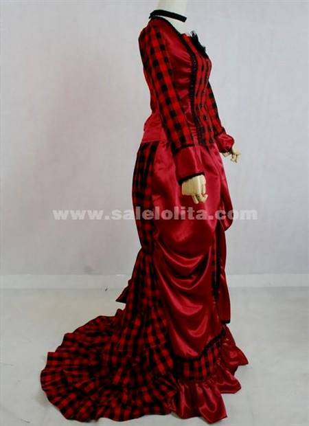 red victorian ball gowns