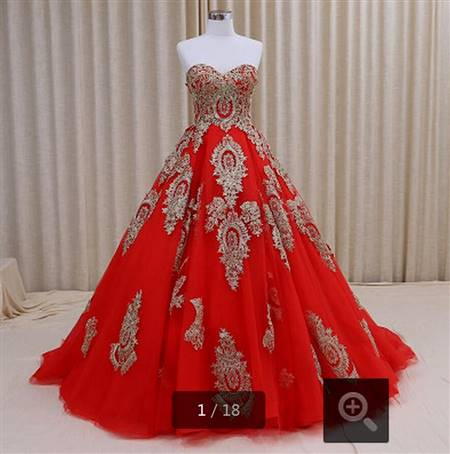 red white and gold wedding dresses
