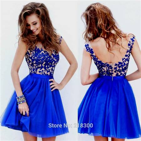 royal blue cocktail prom dresses
