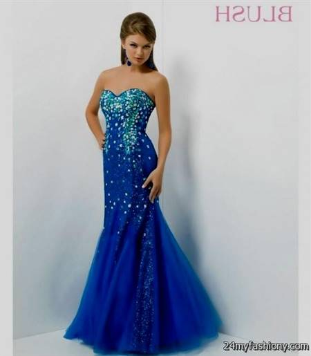 royal blue mermaid gowns