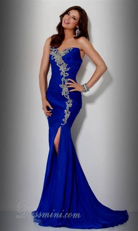 royal blue mermaid gowns