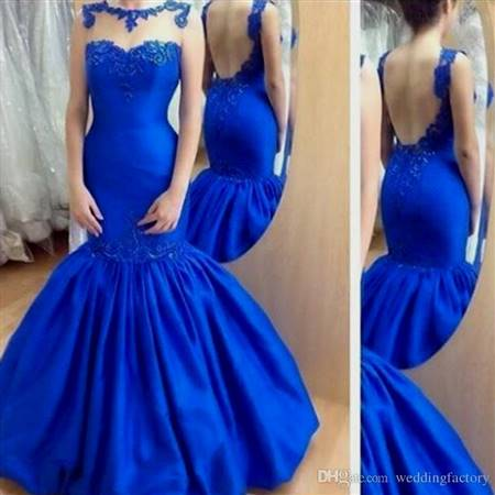 royal blue mermaid prom dresses