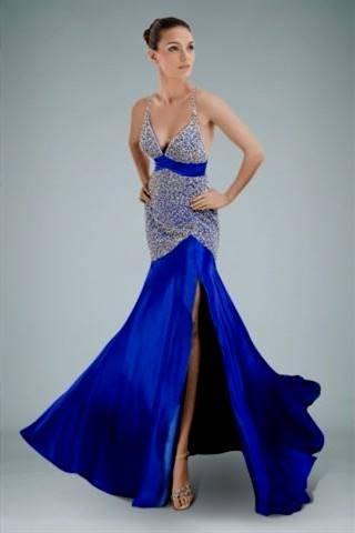 royal blue mermaid prom dresses