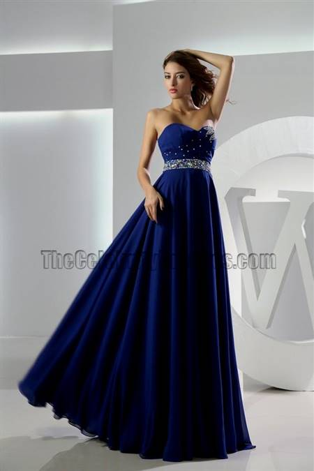 royal blue sweetheart prom dress