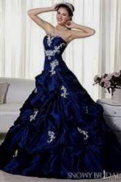 royal blue wedding gown