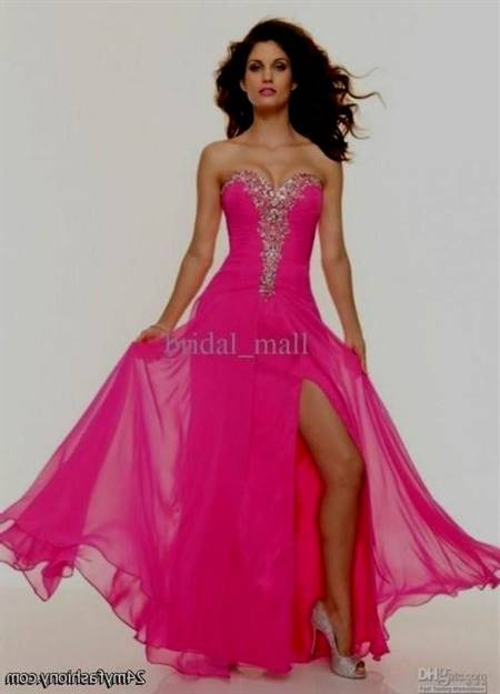 sexy hot pink prom dresses