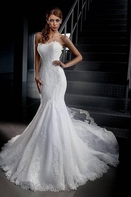 sexy lace fishtail wedding dress