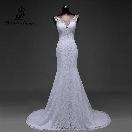 sexy mermaid wedding dress
