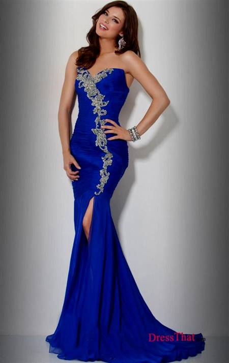 sexy royal blue prom dresses