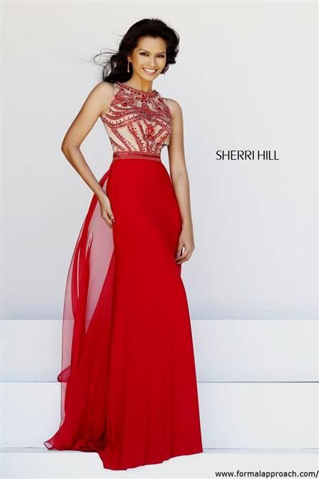 sherri hill prom dresses gold