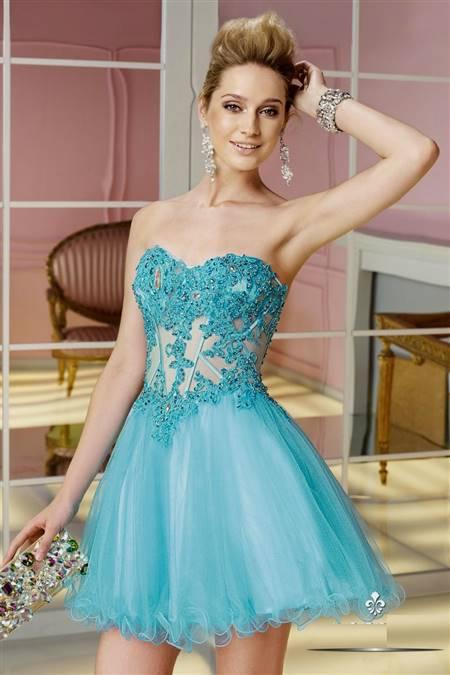 short blue dresses under 100