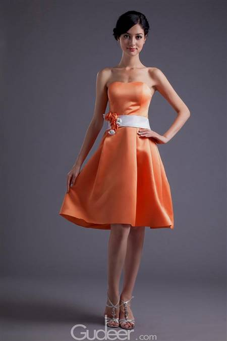 short bridesmaid dresses with flower